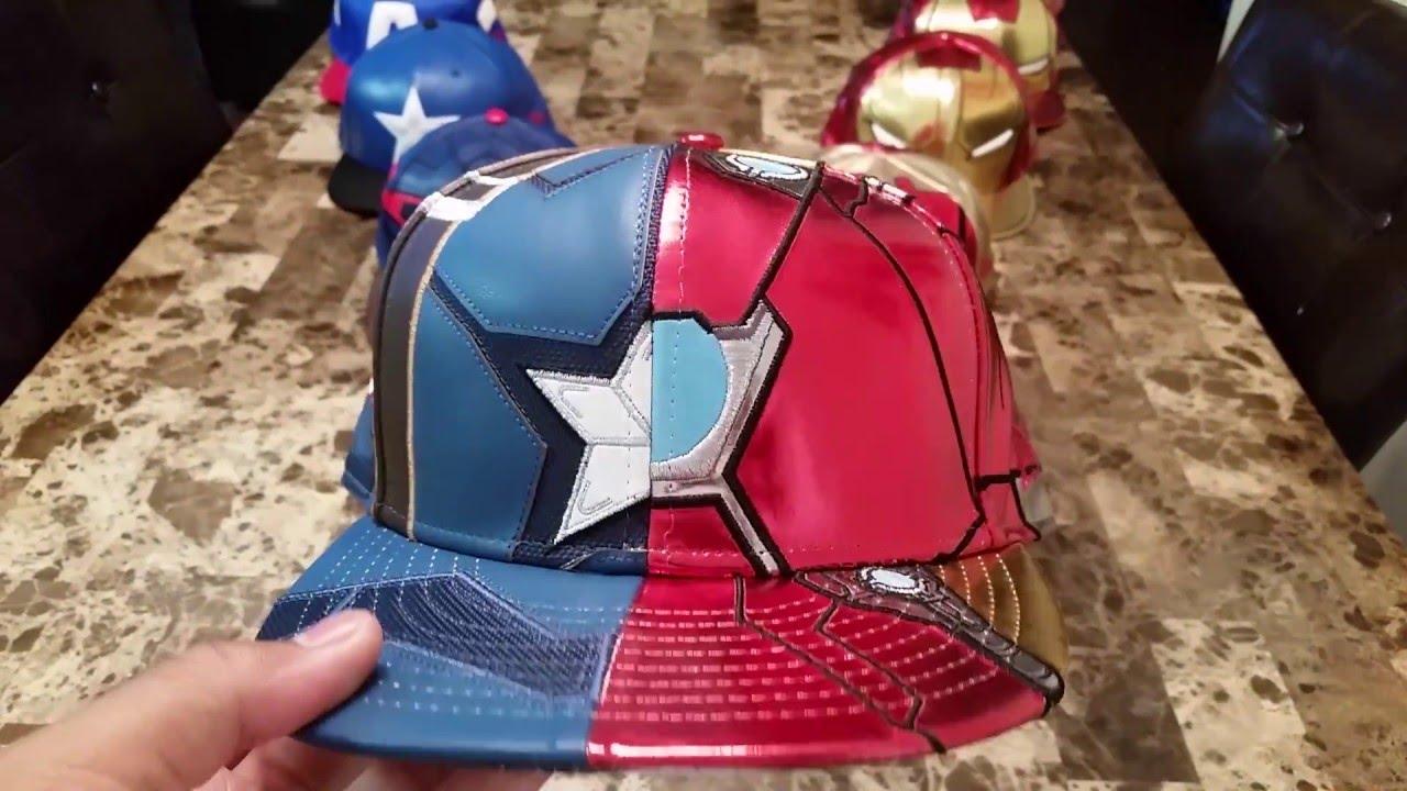 quality design 93a96 201e9 Captain America vs Iron Man Armor New Era Hat