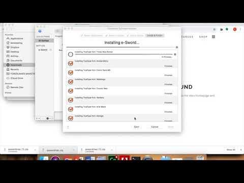 How To Install E Sword On A Mac OSX