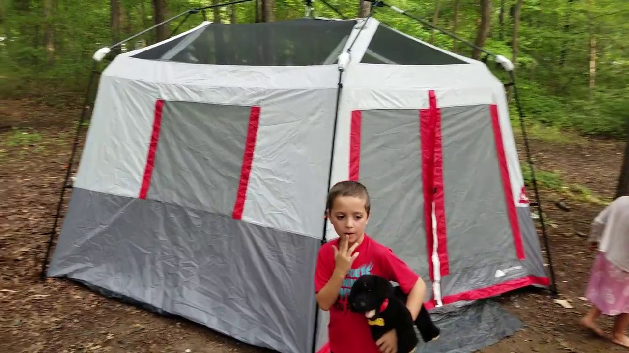 Ozark Trail 8 Person Instant Hexagon Tent Review Youtube