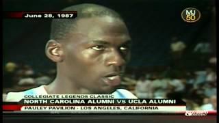 Michael Jordan North Carolina Alumni Game 1987