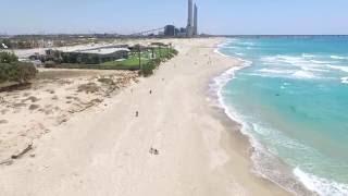 חוף שדות ים ממבט הציפור