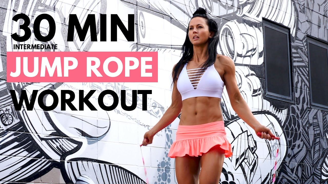 30 Min Jump Rope Workout (Intermediate Level) At Home or Gym