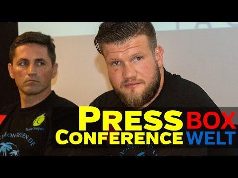 Alexander Dimitrenko vs Joseph Parker - press conference - 08.09.2016 - Hamburg