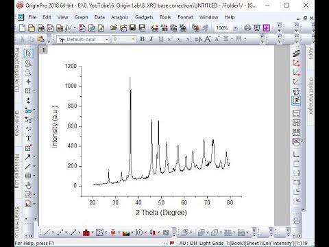 8. Origin Lab (base Line Correction Of XRD)
