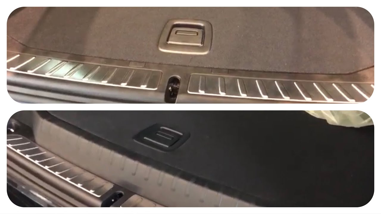 BMW X3 G01 Trunk with and without Spare Wheel - YouTube