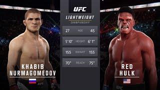Khabib vs. Red Hulk (EA Sports UFC 2) - CPU vs. CPU