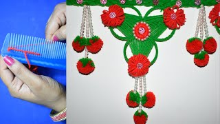 Latest trendy and New look door hanging toran design II DIY- Best out of the waste II