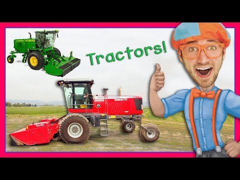Thumbnail: Tractor Videos for Children – Explore a Swather with Blippi