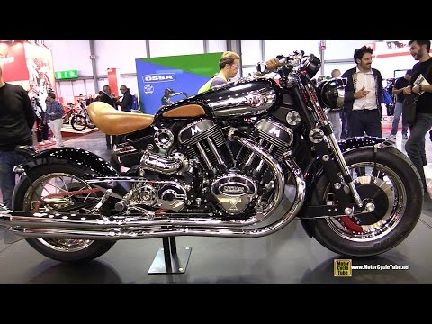 2015 Matchless Model X Reloaded  Walkaround  2014 EICMA Milan Motorcycle Exhibition