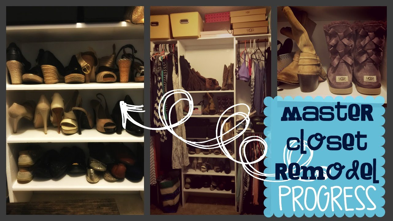 Master Closet Remodel Progress - YouTube
