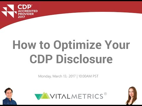 CDP Webinar: How to Optimize Your CDP Disclosure