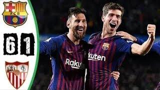 ملخص اهداف برشلونة واشبيلية 6-1 🔥 ريمونتادا تاريخية 🔥