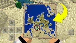 - НОВЫЕ КАРТЫ СОКРОВИЩ В MCPE Minecraft Pocket Edition