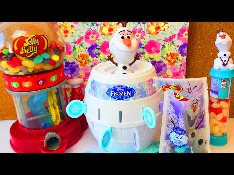 FrozenDie Eiskönigin Olaf JELLY BEANS Challenge mit Gewinn |Lustiges Spiel für Kinder mit EVA&KATHI