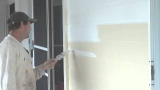 How to paint exterior walls or siding like hardie plank with a paint brush.