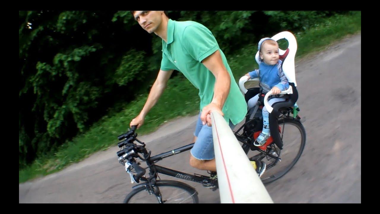 Лучшее детское переднее велокресло из КАНАДЫ! - YouTube