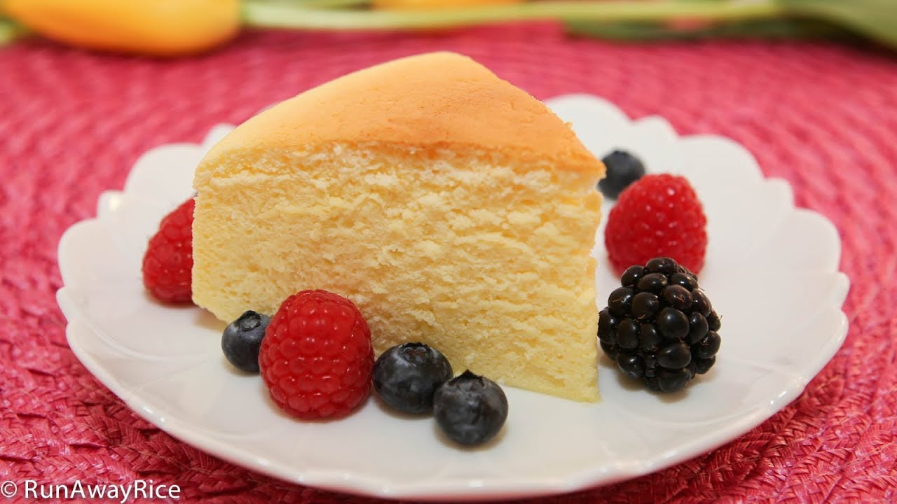 Japanese Sponge Cake Recipe Youtube: Cotton Cheesecake / Japanese Cheesecake