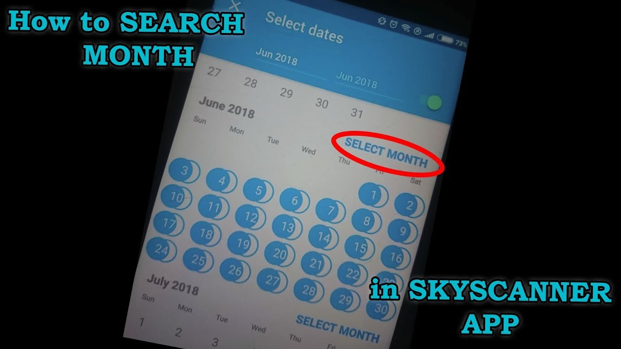 How to SEARCH WHOLE MONTH in the SKYSCANNER APP MOBILE