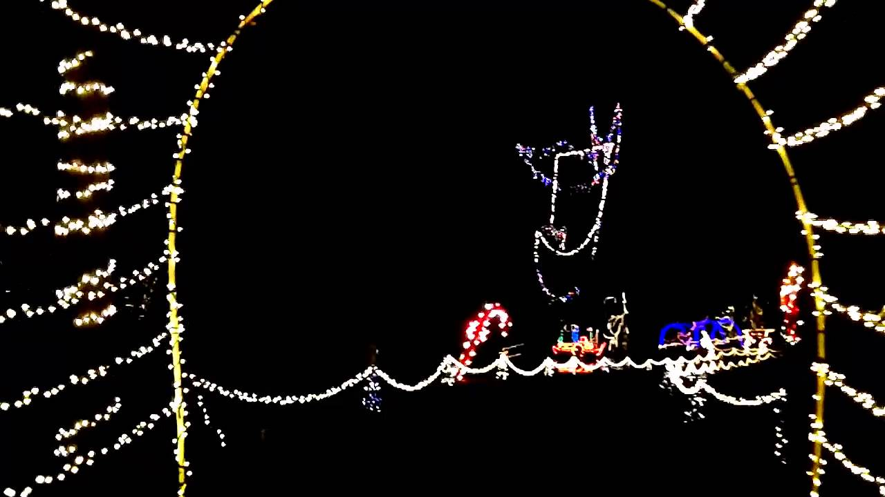 Troutman, NC Christmas Wonderland of Lights Drive Through - YouTube