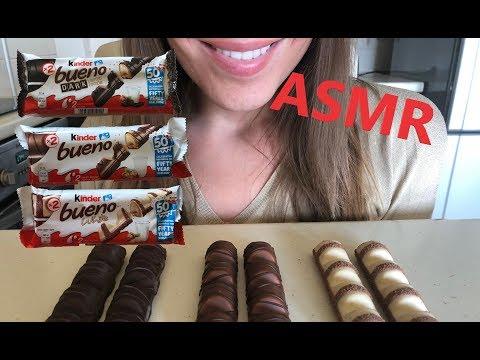 ASMR Kinder Bueno Chocolate   Crunchy Eating Sound * Mukbang