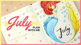 Plan With Me!   July 2017 Bullet Journal Setup Ideas & Organizing Tips