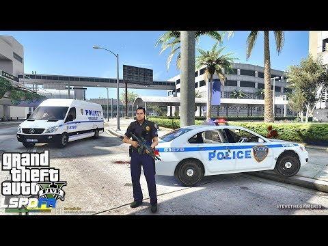 LSPDFR #559 -  NYC PAPD PATROL(GTA 5 REAL LIFE POLICE PC MOD) AIRPORT