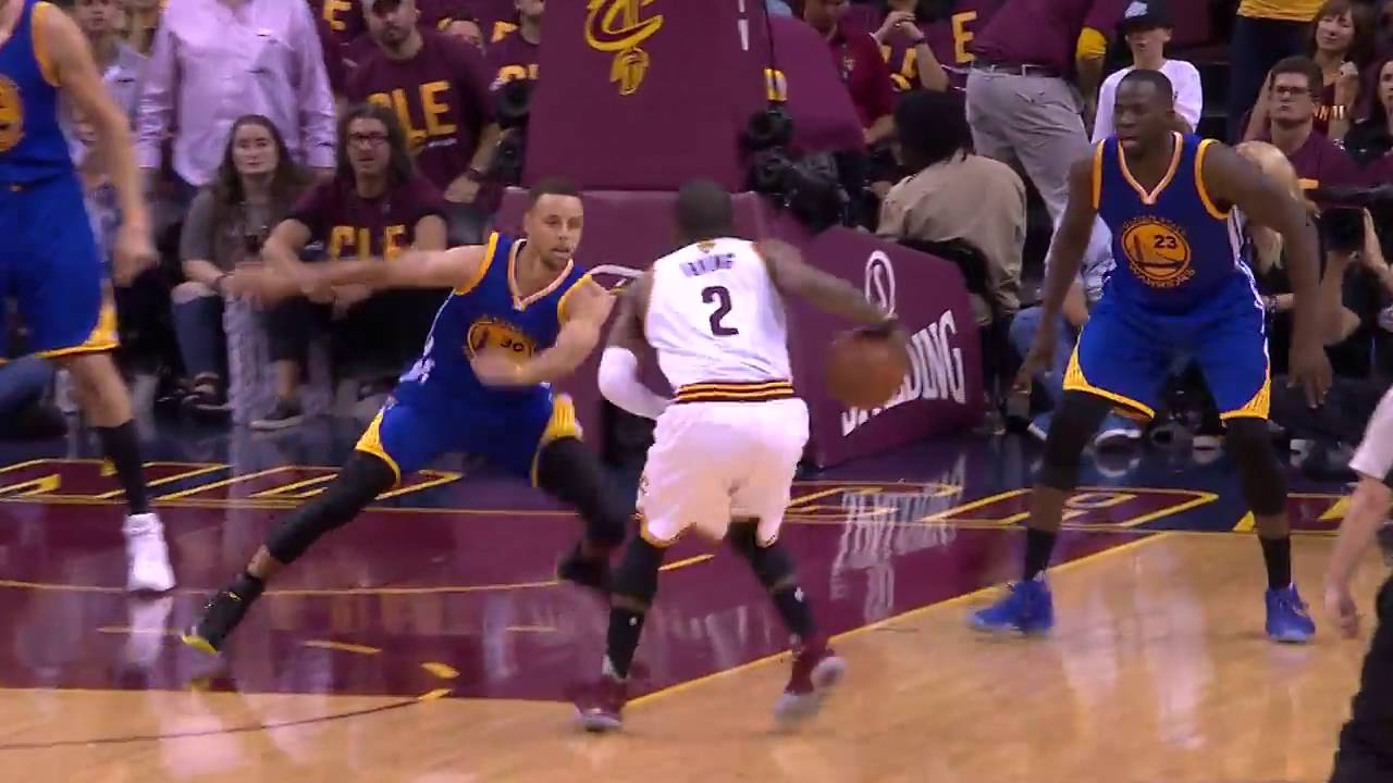 Kyrie Irving Crosses Up Stephen Curry