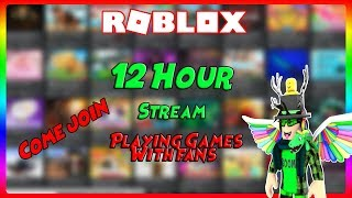 🔥🔴 Playing Roblox for 12 Hours! Games with fans and more! Come Join! 🔴🔥