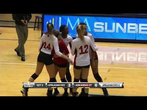 2015 Sun Belt Volleyball Championship Match Highlights (Arkansas State vs Appalachian State)