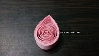 Paper Quilling | Tutorial | DIY | Learn how to make Paper Quilling Shape No 3 - Tear Drop