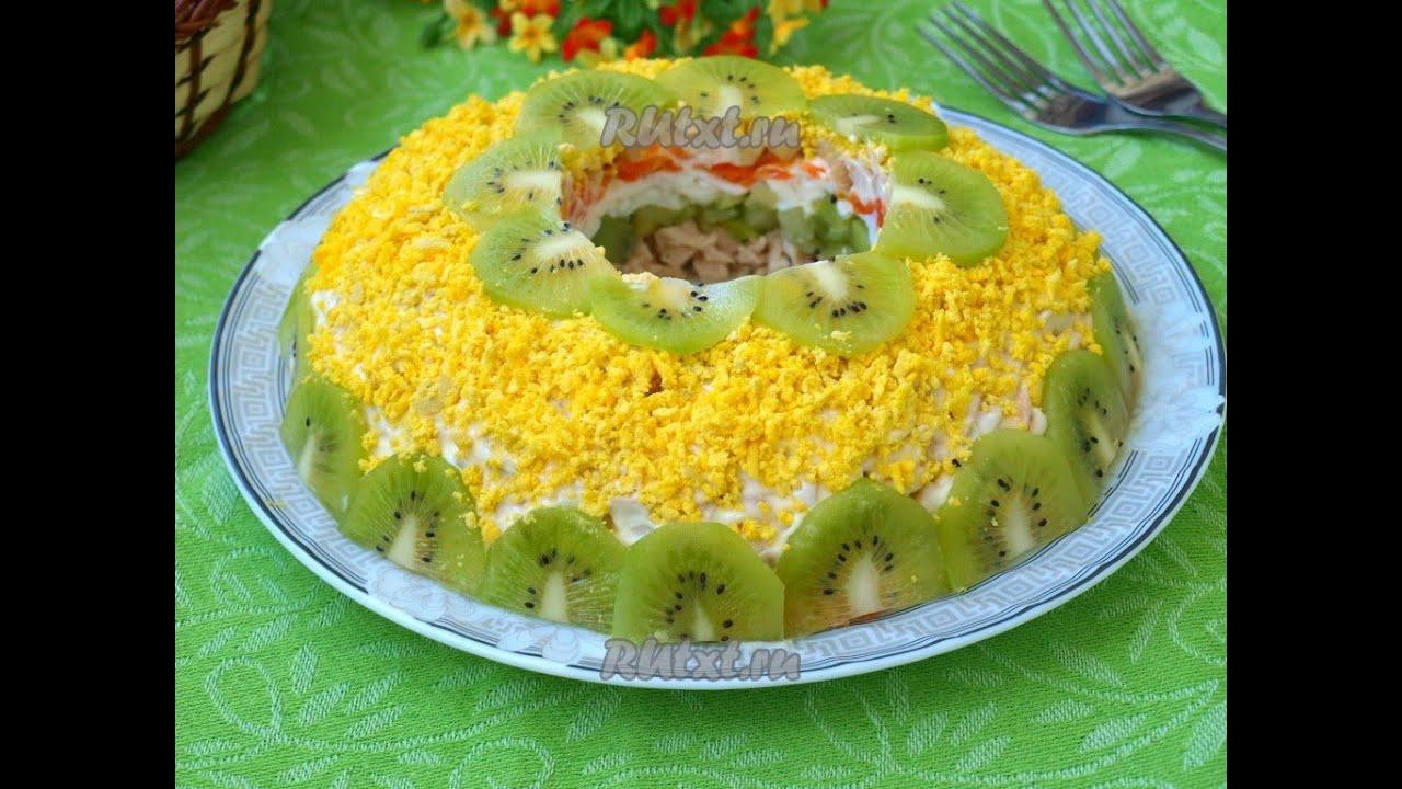 Салат браслет с ананасом
