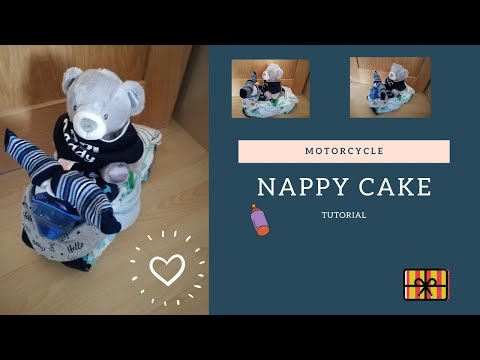 Motorcycle Nappy Cake Tutorial