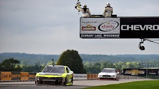 menard holds off blaney for wisconsin win