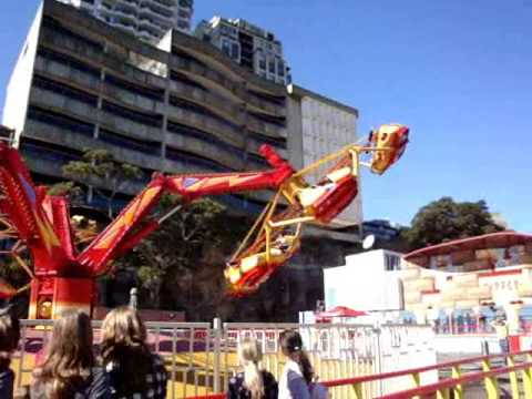 Luna Park Sydney's Huss Troika - Tumble Bug - YouTube  Luna