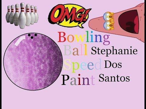Bowling Ball - Speed Paint // Stephanie Dos Santos