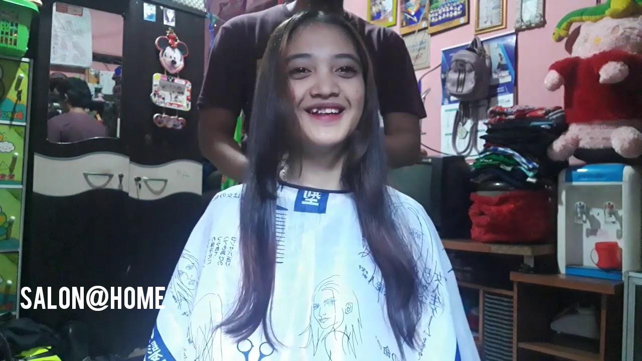 Rima Potong Rambut Pixie ( Beautiful Girl Long to Pixie Cut ) | Before Haircut