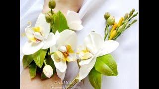 Свадебный комплект Орхидеи фаленопсы из х.ф .Ивашковой Г.