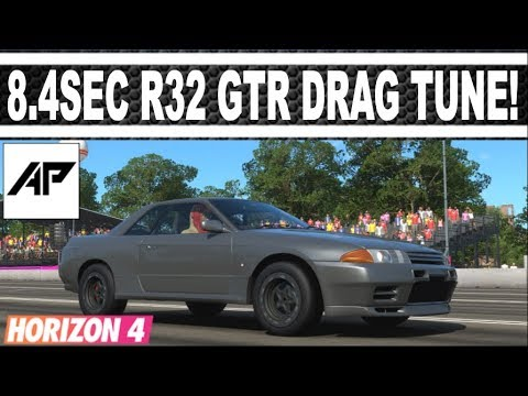 Forza Horizon 4 | R32 Nissan Skyline GTR Drag Tune | 8.408 Second 1/4Mile! thumbnail