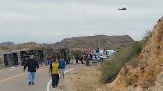 Video: Duelo en Argentina por 15 muertos en vuelco de autobús