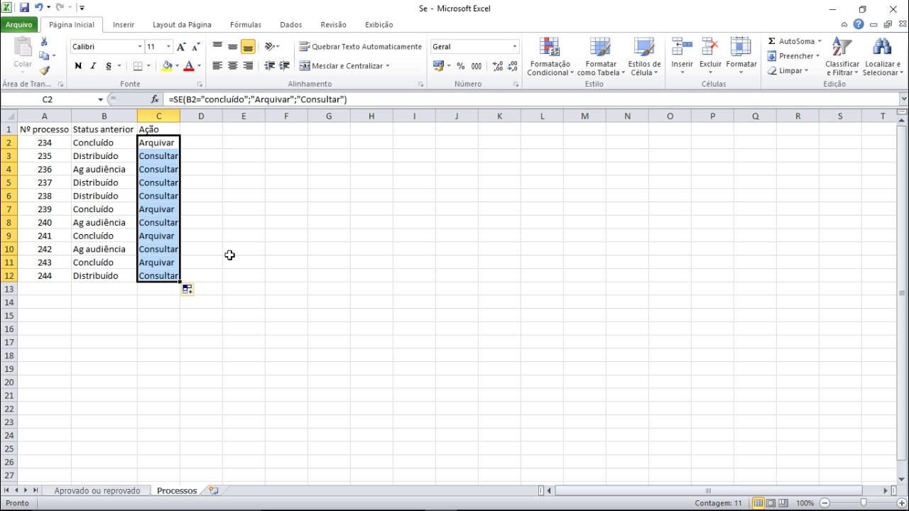 Fórmula Se   Fazendo comparações no Excel