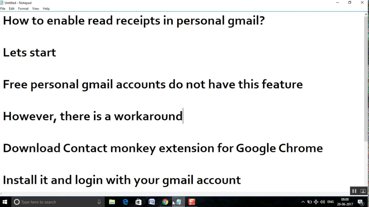 Gmail read receipt option not showing