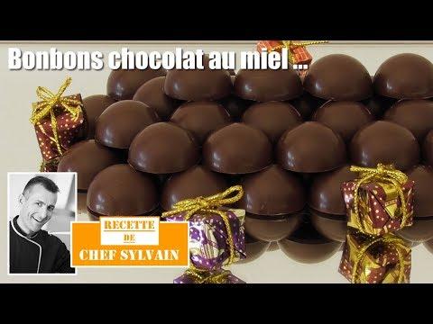 Bonbons chocolat maison au miel - Recette par Chef Sylvain