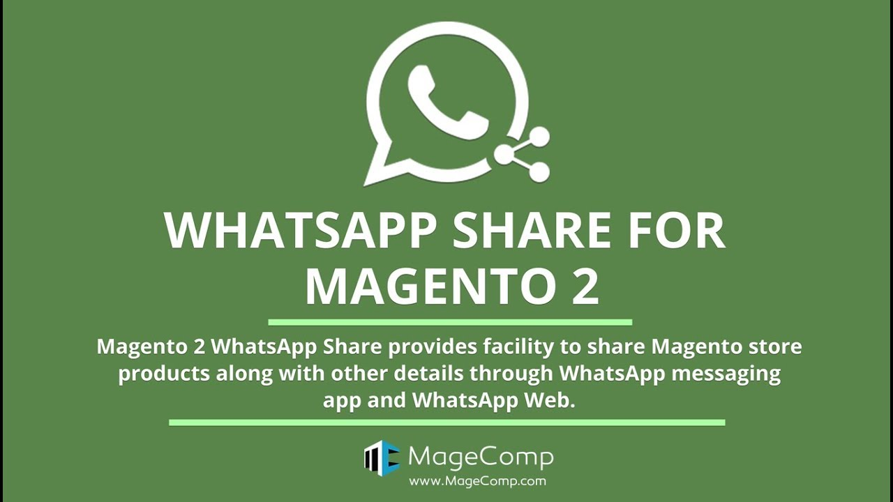 Share Product Details on WhatsApp   Magento 2 Extension