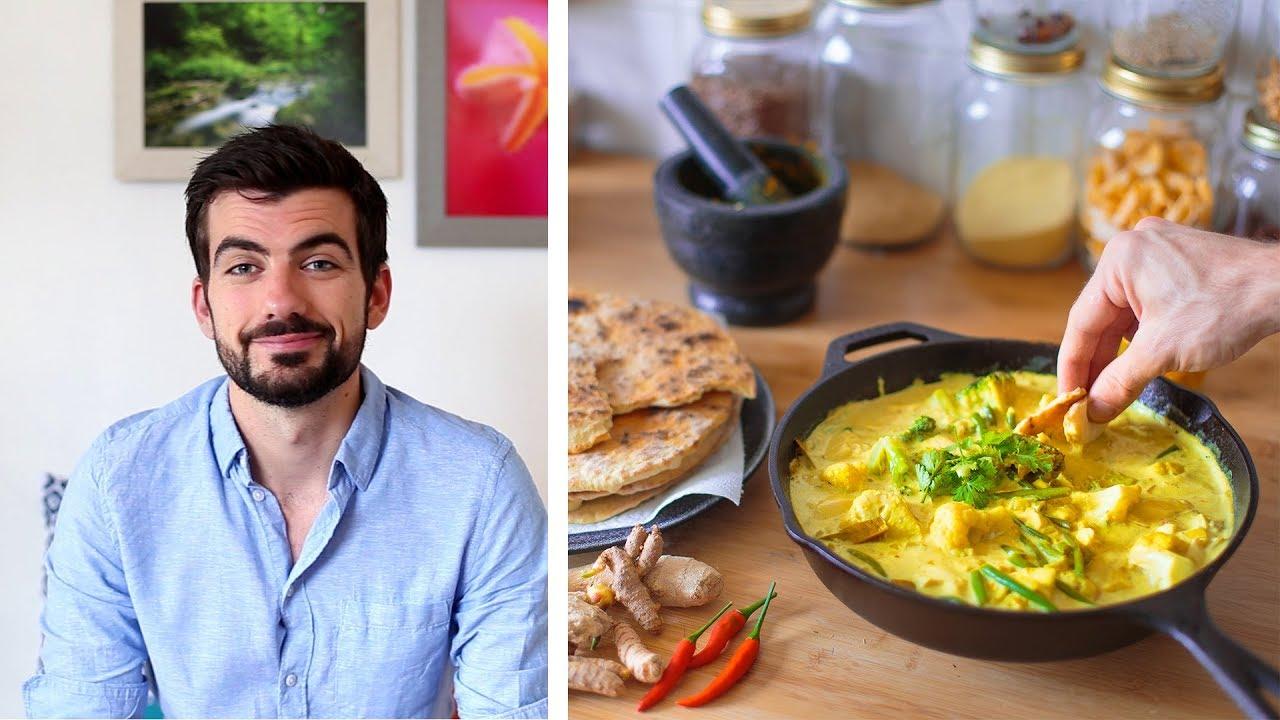 Pâte de curry et naans maison