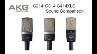AKG C214 C314 C414XLS comparison