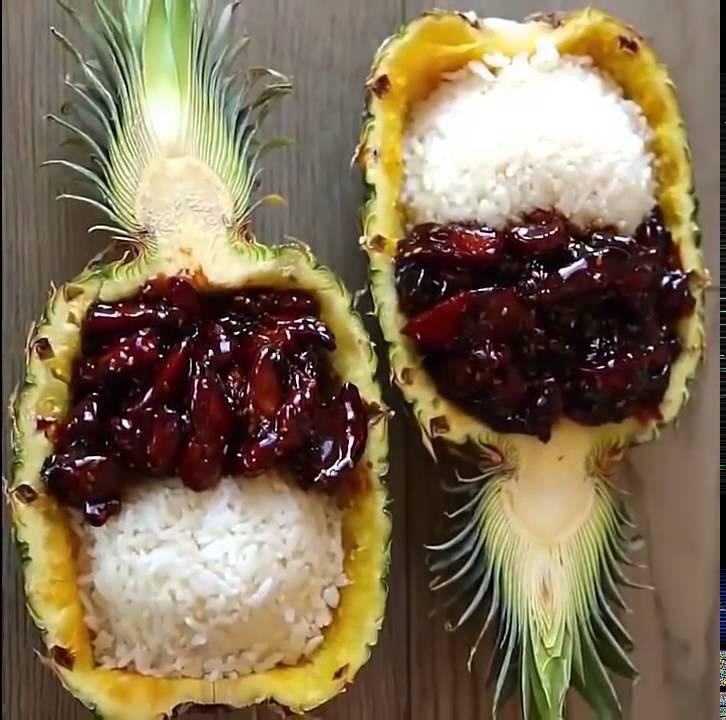 Teriyaki Chicken Pineapple Bowls Buzzfeed Food Tasty Food Youtube