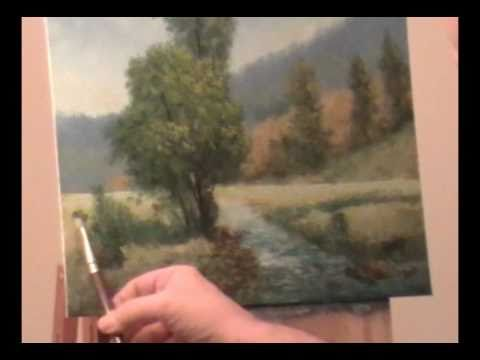"landscape painting ""Tree by the Creek"", part 3 of 3"
