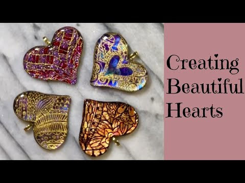 Creating Beautiful Hearts Easy Surface Techniques Polymer Clay Tutorial