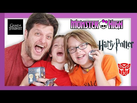 Family Unboxing of Blinds | MH MINIS, HARRY POTTER, TRANSFORMERS AND MORE | Day 1160 | ActOutGames