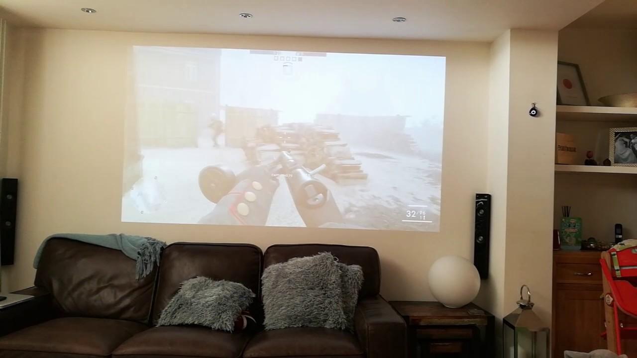 Battlefield 1 on Optoma HD50 projector - YouTube
